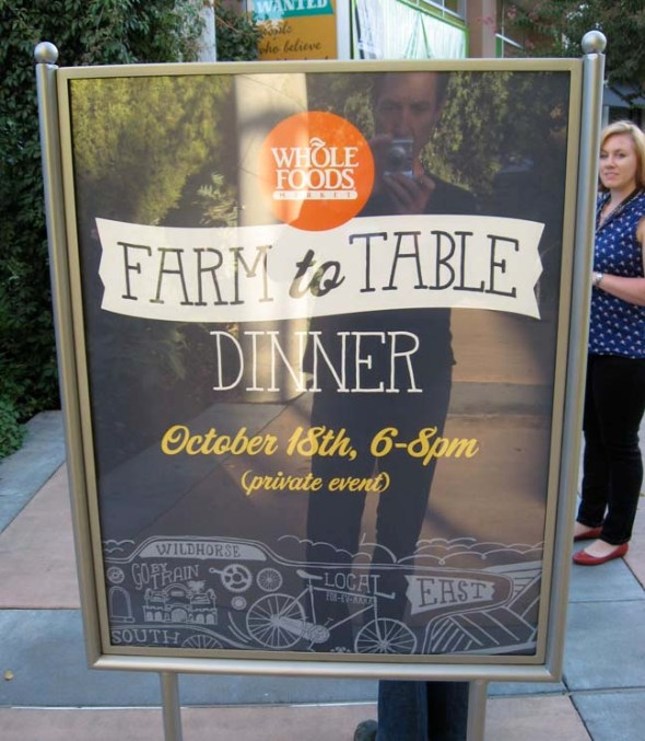 Whole Foods Farm-to-Table Dinner
