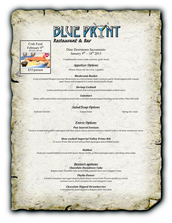 Dine Downtown Sacramento 2013: Blue Prynt Restaurant and Bar