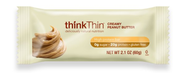 thinkThin CREAMY PEANUT BUTTER wrapper