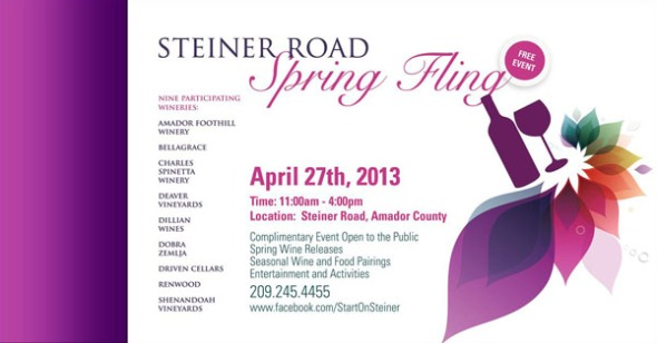 Steiner Road Spring Fling, FREE Food and Wine Event, April 27th