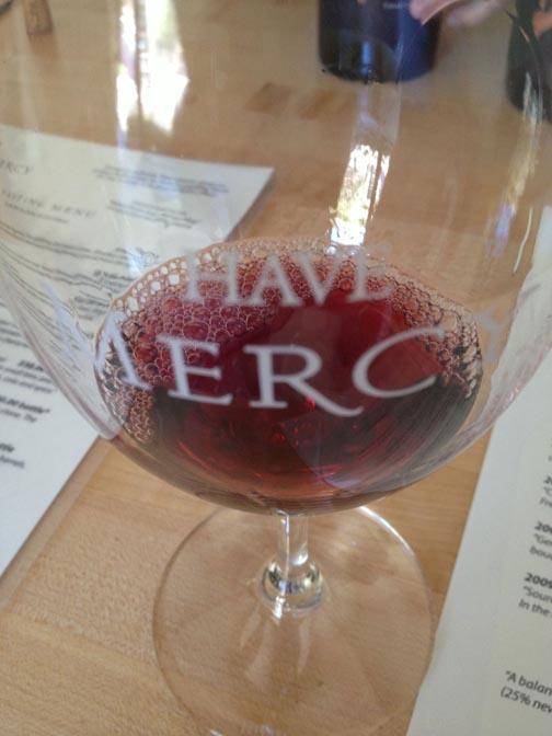 mercy wine glass