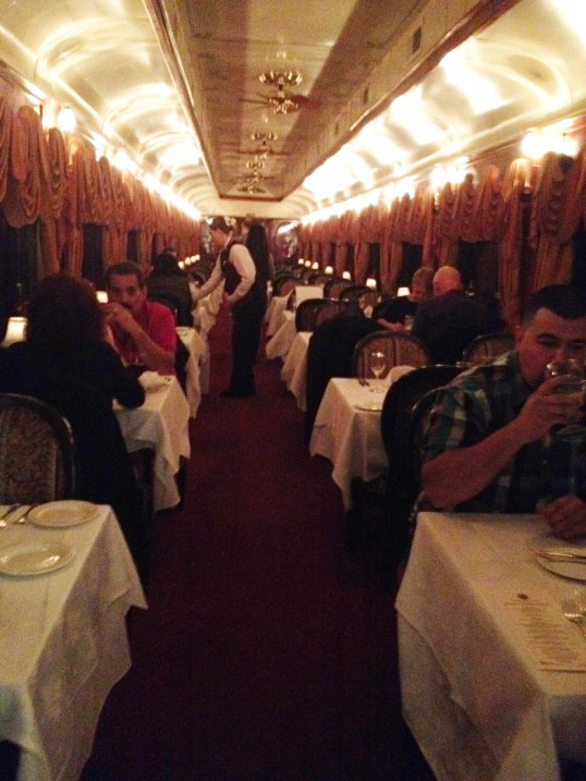 inside dining car