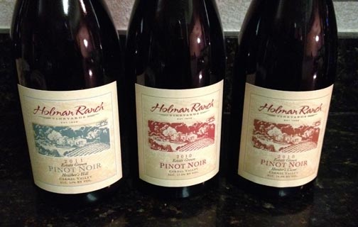 A Trio of Pinots and Food Pairing with Holman Ranch Wines