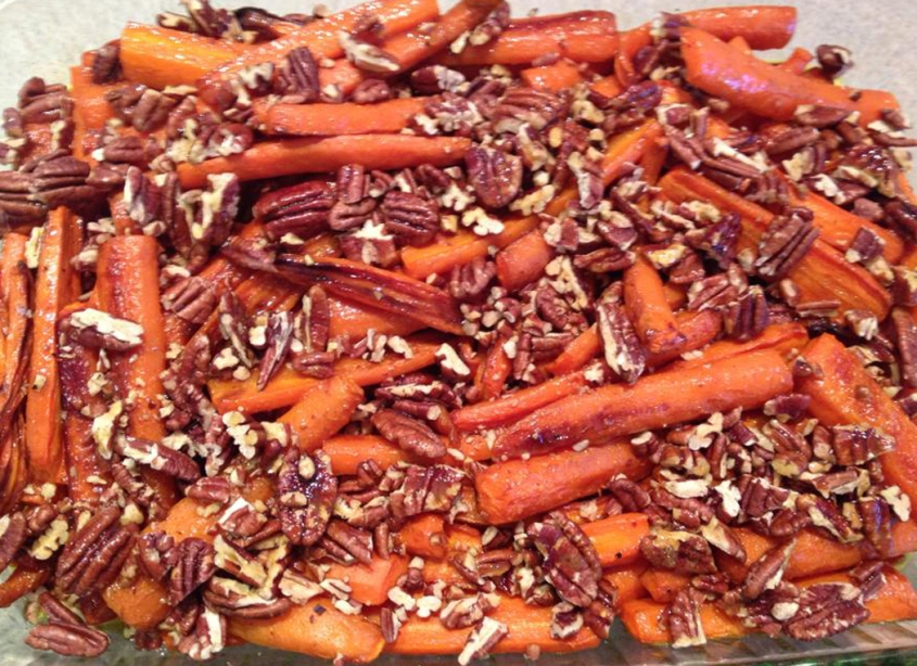 Roasted Carrots with Curry and Pecans