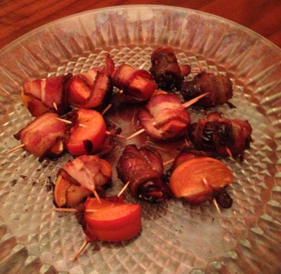 bacon wrapped persimmons