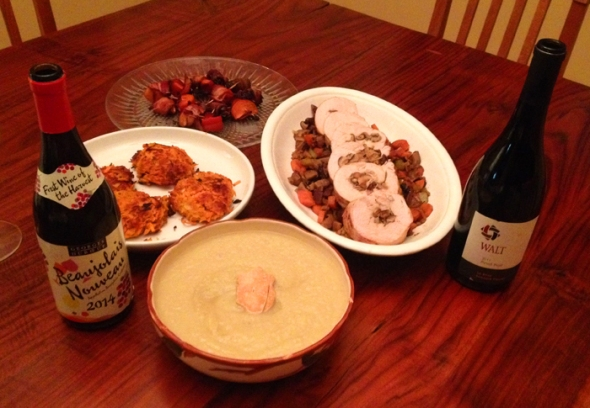 Celebrate Thanksgiving with Sweet Potato Latkes and Beaujolais Nouveau!
