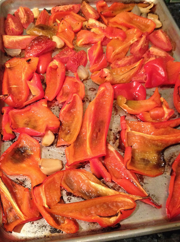 roasted red pepper and tomato
