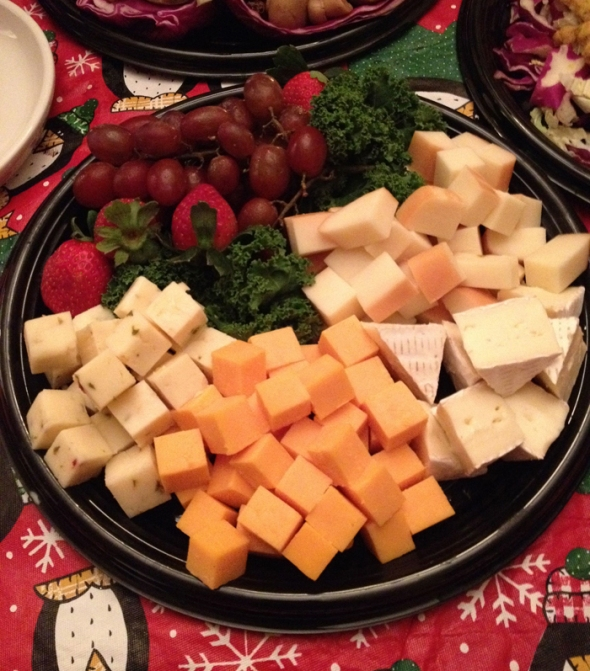 traditional cheese platter