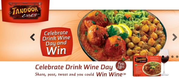 Drink Wine Day is February 18th, Celebrate with Tandoor Chef and Win a $250 Wine Gift Card