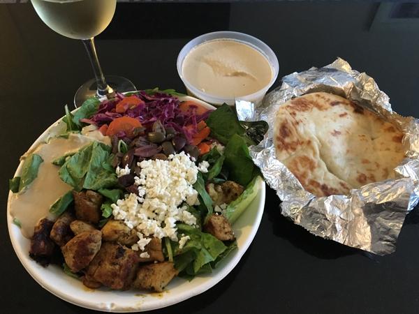 chicken kabob salad from roti