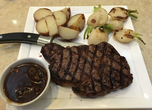 rib eye potatoes and turnips