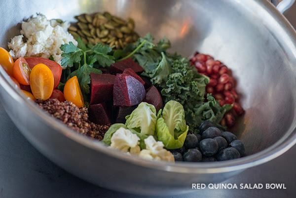 Red Quinoa Salad Bowl