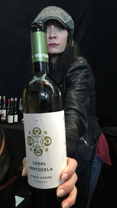 lady with vinho verde