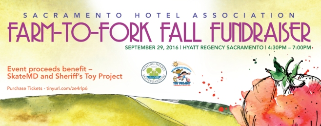 Sacramento Hotel Association Fundraiser Farm-to-Fork Fall Fundraiser set for September 29th at Hyatt Regency Sacramento