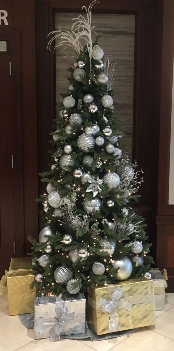 tree in hotel